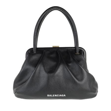 Balenciaga  Clutches - Small Cloud Bag Grained Calf Leather - in schwarz - für Damen grau