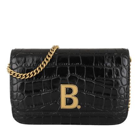 Balenciaga  Crossbody Bags - B. Chain Wallet Embossed Croc - in schwarz - für Damen schwarz