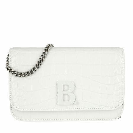 Balenciaga  Crossbody Bags - B Logo Crossbody Bag Embossed Croco - in weiß - für Damen
