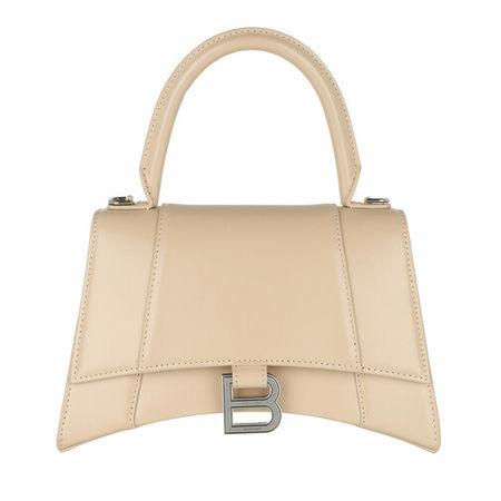 Balenciaga  Crossbody Bags - Hourglass Small Handle Bag Leather - in beige - für Damen