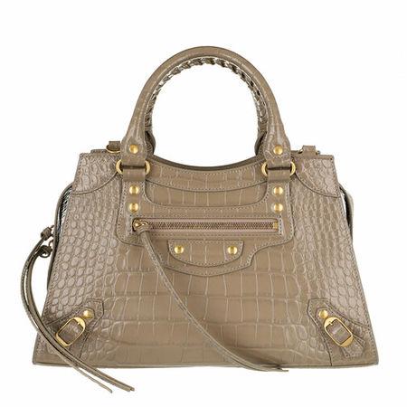 Balenciaga  Crossbody Bags - Neo Classic Handle Bag Leather - in grau - für Damen
