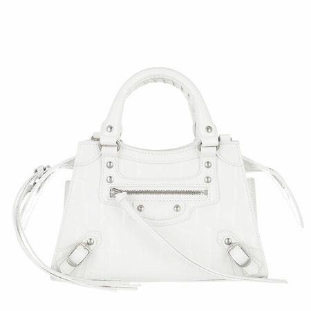 Balenciaga  Crossbody Bags - Neo Classic Mini Top Handle Bag Leather - in weiß - für Damen