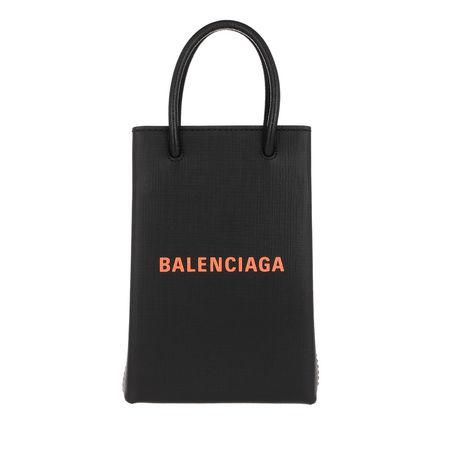 Balenciaga  Crossbody Bags - Shopping Phone Holder Bag Leather - in schwarz - für Damen schwarz