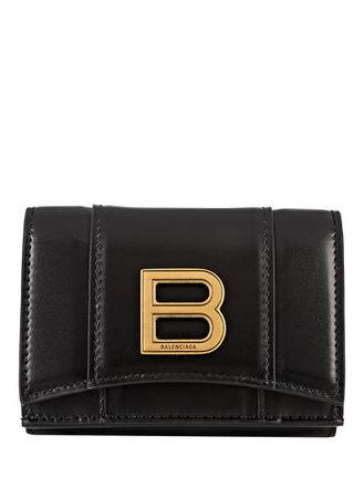 Balenciaga  Geldbörse Hourglass Mini schwarz schwarz
