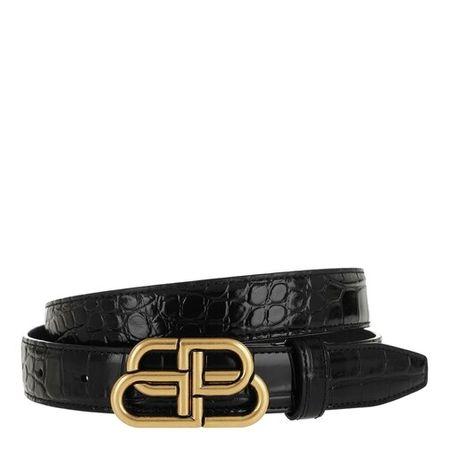 Balenciaga  Gürtel - BB Thin Belt Leather - in schwarz - für Damen
