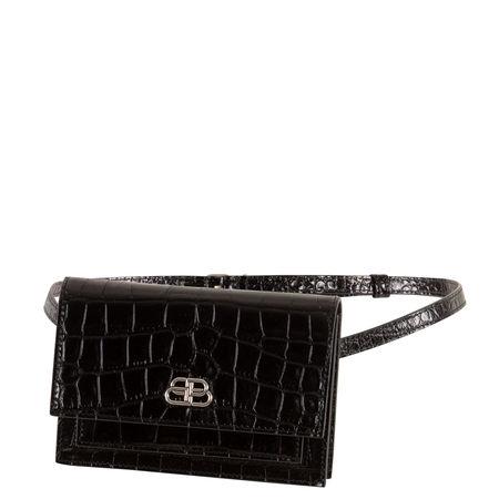 Balenciaga  - Gürteltasche Sharp XS aus geprägtem Leder schwarz