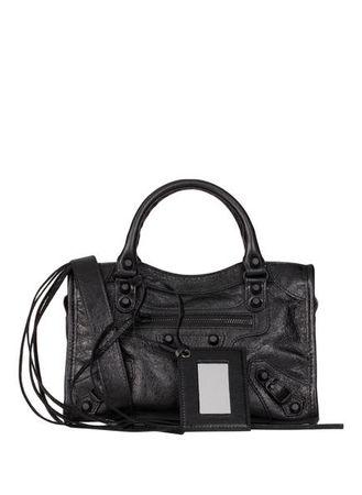 Balenciaga  Handtasche Classic Mini City schwarz grau