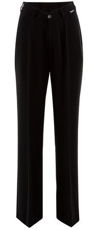 Balenciaga  - Hose mit V-förmigem Bund aus Crepe-Twill schwarz