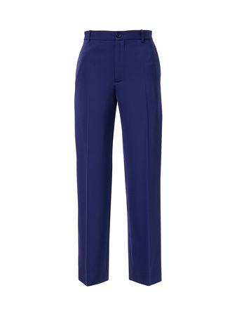 Balenciaga  - Klassische Bügelfalten Hose Cropped Marineblau blau