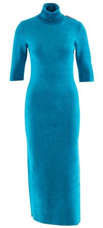 Balenciaga  - Kleid aus weichem Viskosegemisch blau