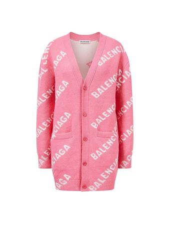 Balenciaga  - Logo Cardigan Pink rosa