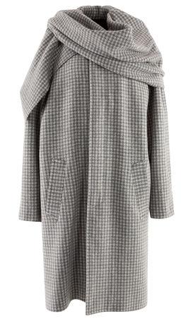 Balenciaga  - Mantel aus Wollgemisch grau