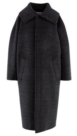 Balenciaga  - Mantel Carcoat aus Wollgemisch schwarz