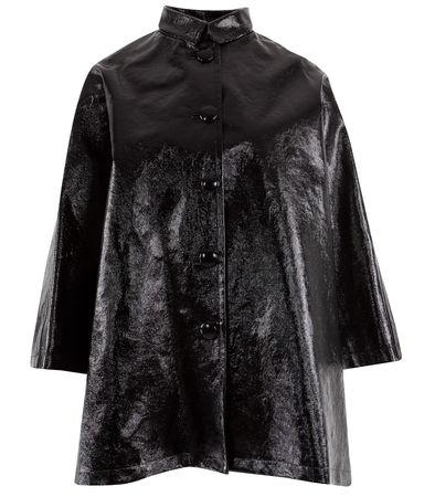 Balenciaga  - Mantel Opera aus Baumwolle schwarz