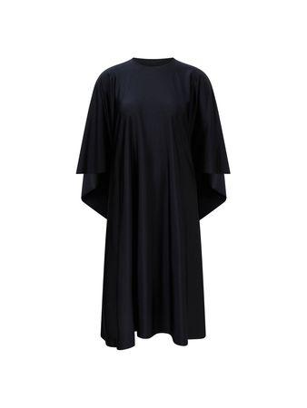 Balenciaga  - Midi-Kleid 'Gospel' Schwarz schwarz