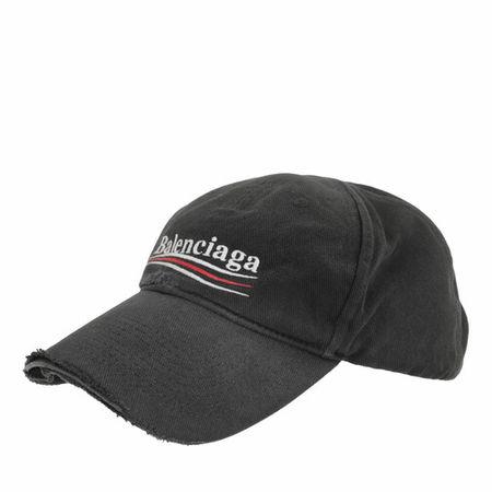 Balenciaga  Mützen - Political Campaign Destroyed Cap - in black - für Damen