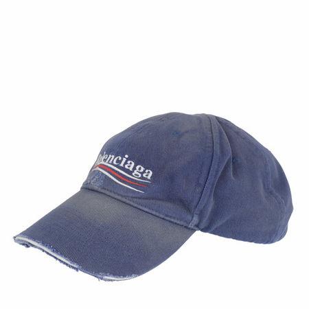 Balenciaga  Mützen - Political Campaign Destroyed Cap - in blue - für Damen