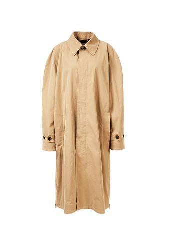 Balenciaga  - Oversize Trenchcoat mit Zipper-Detail Beige orange