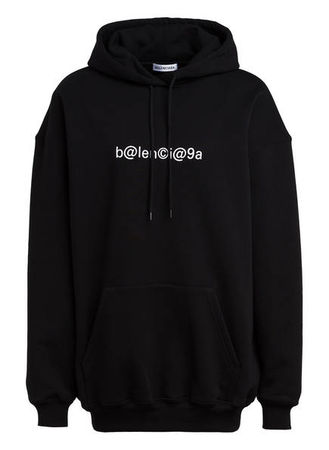 Balenciaga  Oversized-Hoodie schwarz schwarz