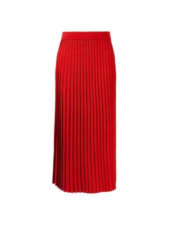 Balenciaga  - Plissierter Rock Rot rot