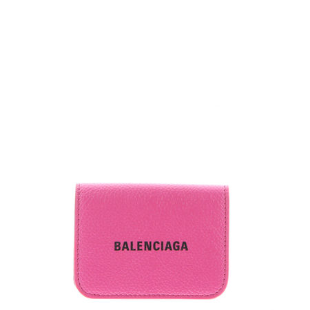 Balenciaga  - Portemonnaie Cash Mini aus Leder pink