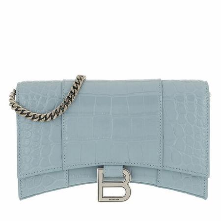 Balenciaga  Portemonnaie - Hour Wallet - in grey blue - für Damen