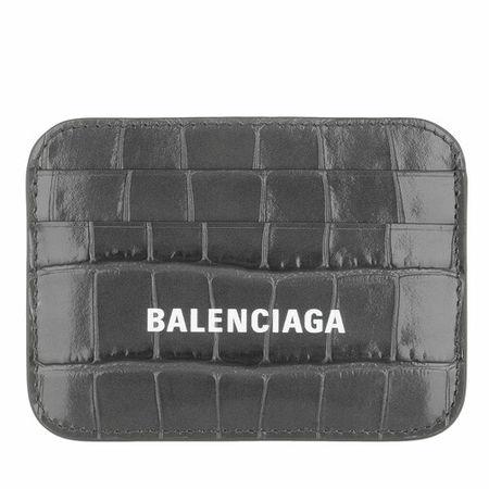 Balenciaga  Portemonnaie - Logo Card Holder - in gray - für Damen