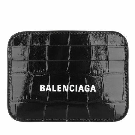 Balenciaga  Portemonnaie - Logo Card Holder - in schwarz - für Damen