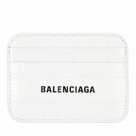Balenciaga  Portemonnaie - Logo Card Holder - in white - für Damen