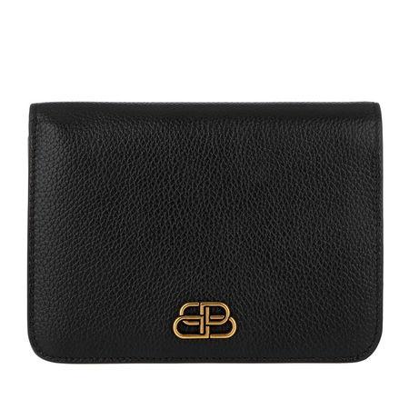 Balenciaga  Portemonnaie  -  Medium BB Wallet Leather Black  - in schwarz  -  Portemonnaie für Damen schwarz