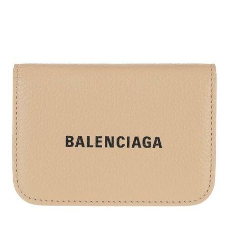 Balenciaga  Portemonnaie - Mini Logo Cash Wallet - in beige - für Damen