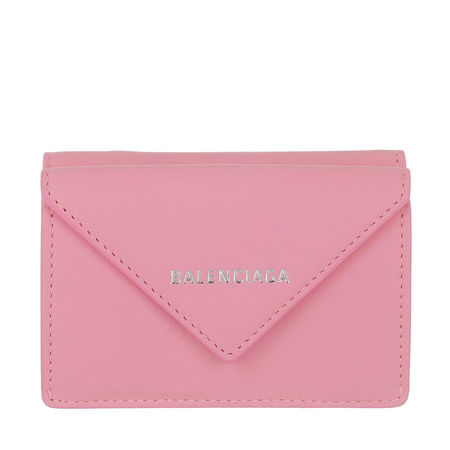 Balenciaga  Portemonnaie - Mini Paper Wallet Calfskin - in rosa - für Damen