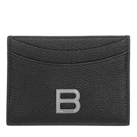 Balenciaga  Portemonnaies - Card Holder Leather - in schwarz - für Damen grau