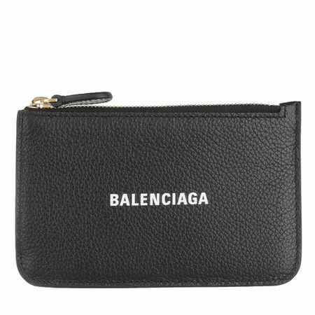 Balenciaga  Portemonnaies - Coin Wallet Leather - in black - für Damen