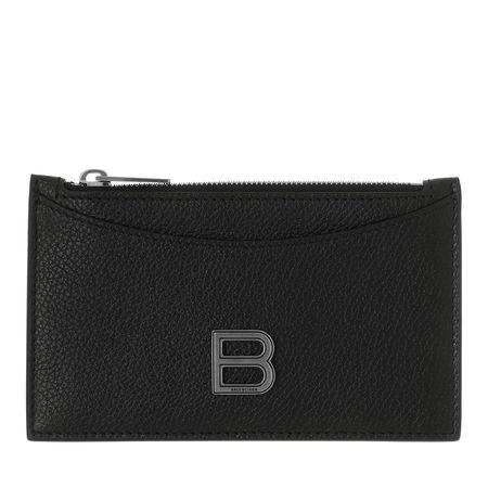 Balenciaga  Portemonnaies - Hourglass Credit Card And Coin Holder Leather - in schwarz - für Damen schwarz