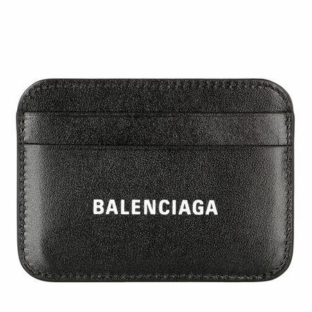 Balenciaga  Portemonnaies - Logo Card Holder Leather - in schwarz - für Damen