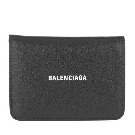Balenciaga  Portemonnaies - Logo Leather Wallet - in schwarz - für Damen grau