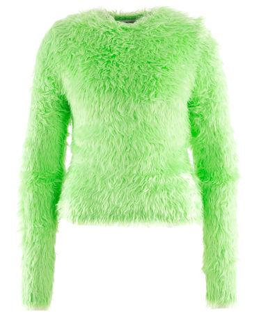 Balenciaga  - Pullover aus extrem weichem Garn gruen