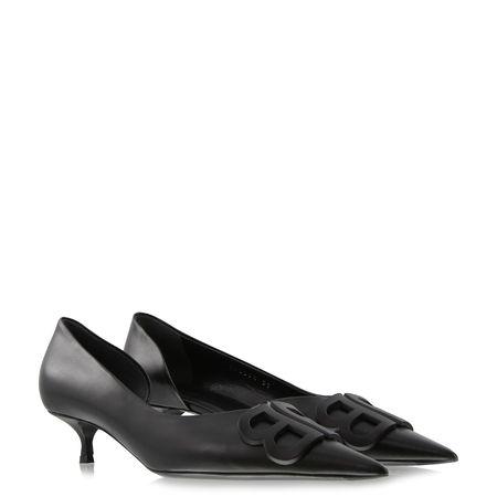 Balenciaga  - Pumps BB D`Orsay aus Leder grau