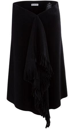 Balenciaga  - Rock aus Wollgemisch schwarz