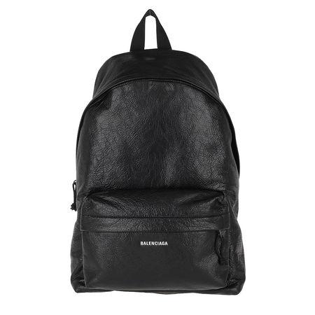 Balenciaga  Rucksack  -  Explorer Backpack Leather Black  - in schwarz  -  Rucksack für Damen grau