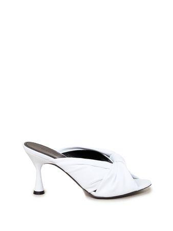 Balenciaga  - Sandale 'Drapy' mit Knotendetail Weiß weiss