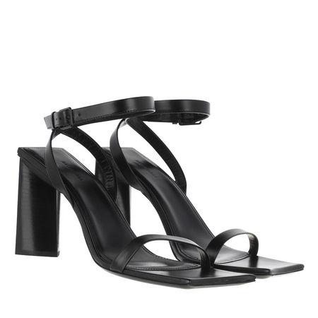 Balenciaga  Sandalen & Sandaletten - Square Heeled Sandals Leather - in schwarz - für Damen schwarz