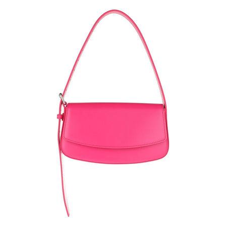 Balenciaga  Satchel Bag - Baguette Belt Bag Leather - in pink - für Damen pink