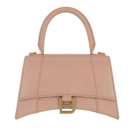 Balenciaga  Satchel Bag - Hourglass Embossed Top Handle Bag Leather - in beige - für Damen