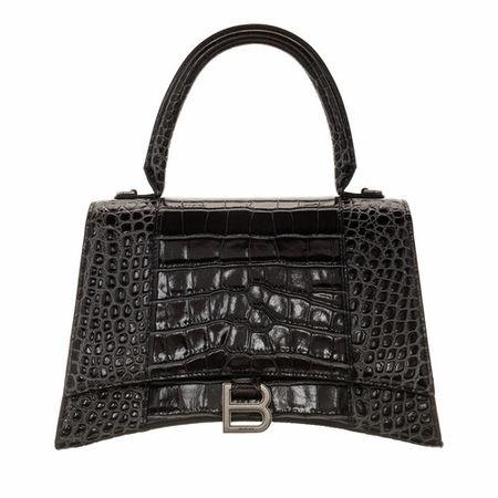 Balenciaga  Satchel Bag - Hourglass Medium Satchel Bag Leather - in grau - für Damen grau