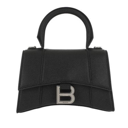 Balenciaga  Satchel Bag - Hourglass Small Handle Bag - in schwarz - für Damen schwarz