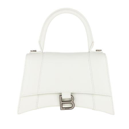Balenciaga  Satchel Bag - Hourglass Small Handle Bag - in weiß - für Damen weiss