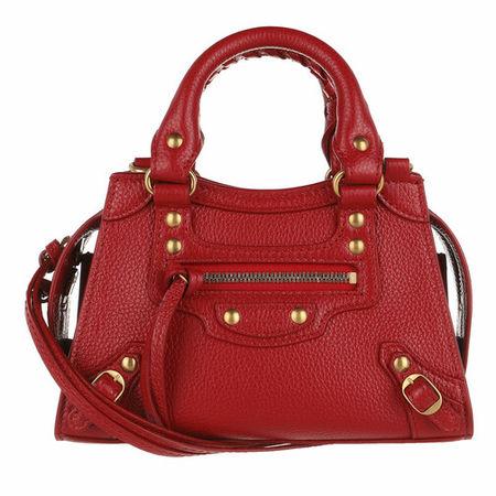 Balenciaga  Satchel Bag - Neo Classic City Nano Bag Grained Calfskin - in light red - für Damen