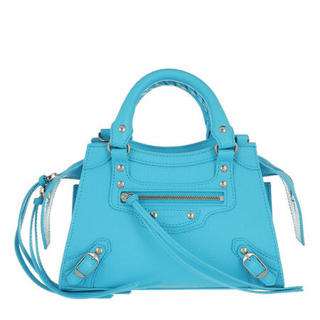 Balenciaga  Satchel Bag - Neo Classic Mini Top Handle Bag Grained Calfskin - in blau - für Damen